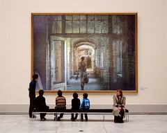 Beelitz-PhotoFunia (Frizztext) Tags: abandoned girl museum architecture hallway potsdam beelitzheilsttten twitter beelitz frizztext barbarafritze museumseries tumblr photofunia pinterest
