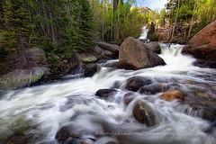 Below Alberta Falls II (RondaKimbrow) Tags: creek river colorado estespark rockymountainnationalpark runoff albertafalls coloradolandscape coloradoimages wwwrondakimbrowphotography500pxcom