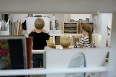 Kids exploring (PhotoByNats) Tags: playing architecture kids interior library libraries books fullframe publiclibrary arkitektur restad bibliotek 5dc 5dclassic restadbibliotek
