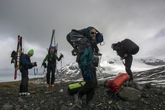 On the morain ridge (sylweczka) Tags: ski expedition bay sailing yacht glacier ridge route shackleton touring icebird morain sylweczka southgerogia