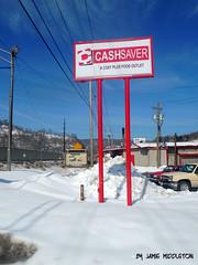 Cash Saver -- Harlan, Kentucky (xandai) Tags: snow storm retail shopping kentucky ky fastfood snowstorm cleanup blizzard pandora harlan octavia winterstorm justified harlancounty southeasternkentucky justifiedfx
