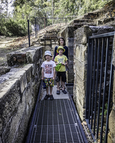 The gang, Saltwater River Coal Mines Historic Site. Tasman Peninsula