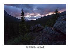 Before the Rainbow (ken.krach (kjkmep)) Tags: banffnationalpark lakemoraine