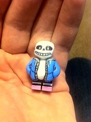 * i've gotten a ton of work done today... (TheEleH) Tags: lego custom undertale sans