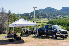 Sampling the subsurface: 1 of 10 (bflinch1) Tags: summer truck work tent shade granite environment fieldwork phd drilling sampling universityofwyoming geoprobe phdlife waterresearch understandingwater wycehg summerinlaramie