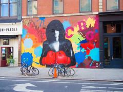 Joey (denver662) Tags: 2016 nyc newyorkcity summer trane ramones joey ramone street art urban olympuspenep5 panasonic 20mm village
