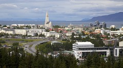 160708 View from top of the Pearl, Reykjavik (BY Chu) Tags: hallgrimskirkjachurch iceland reykjavik thepearl