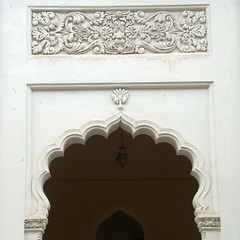 Archeswith Floral Stucco work (VinayakH) Tags: india gardens royal palace hyderabad royalpalace nizam telangana chowmahallapalace