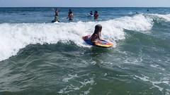 Violet On Her Boogie Board (Joe Shlabotnik) Tags: galaxys5 beach higginsbeach violet boogieboard maine july2016 cameraphone ocean 2016