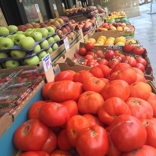 Not baby watermelon #tomatoes #apples #granysmith #lemons #vegetables #fruits #organicfruit #organicfarm #photography #photographyeveryday #photographer #photooftheday #food #foodshopping #rain #rainyday