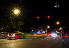 (Dinosaursinmysoup!) Tags: longexposure lighttrails city traffic night elmwoodave buffalony
