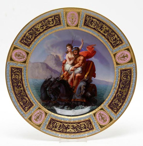 Royal Vienna Plates, one w/ Chip ($336.00, $190.40)