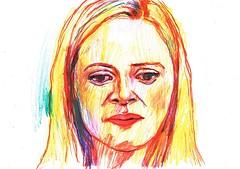SIN VIBRACIN (GARGABLE) Tags: portrait sketch gente retrato drawings dibujos apuntes manchas lpicesdecolores gargable angelbeltrn sinvibracin