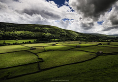 Gunnerside Meadows, Swaledale, Yorkshire Dales. (ben.leng) Tags: yorkshire yorkshiredales green meadow skye sun sunshine dale swaledale clouds hay haybarns gunnerside country nationalpark grass sheep nature farm nikon sigma hdr orton