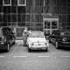 Come facevano le cose una volta ....... Ora non si fanno pi  - How did things once ....... Now there are more  (stefanobiserni) Tags: 6 6x6 mamiya film car big italia campania fuji fiat small 500 across salerno