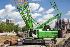 Sennebogen 5500 (Alexandre Prvot) Tags: construction construccin lorraine worksite buildingsite travaux chantier cugn grandnancy baustellebauplatz