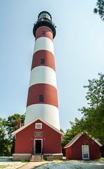 Red striped lighthouse (richard binhammer) Tags: assateagueislandnationalseashore easternshore lighthouse va