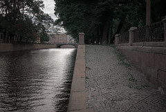 / Gloomy morning (Abs0lute2010) Tags: yellow stpetersburg petersburg canal griboyedov pavement embankment morning water russian