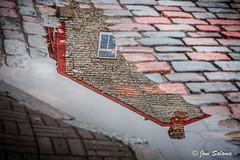 Old town reflection (Joni Salama) Tags: heijastus photoshop tallinna viro tallinn estonia cobblestone reflection
