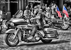 Aug 4 2013 - Stars and Stripes bagging it in Deadwood SD (lazy_photog) Tags: lazy photog elliott photography worland wyoming deadwood south dakota sturgis motorcycle rally motorcycles bikers