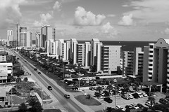 West Beach Boulevard Condos in Black and White - Gulf Shores, AL_P1130930c (Wampa-One) Tags: gulfshoresal gulfshores alabama westbeachboulevard condos blackandwhite wbeachblvd bw highrisetowers