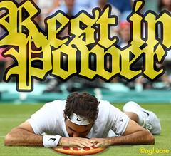 Roger Federer Rest in Power Pepperoni Pizza Centre Court (Coachie Ballgames) Tags: roger federer tennis wimbledon centre court pizza pepperoni rip rest power peace memorial mourn you till i join