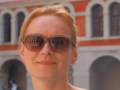 Reflections (Grazerin/Dorli B.) Tags: woman sunglasses reflection priesterseminar graz austria elements