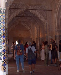 Spain (Granada-Alhambra Palace) Magnificient ornaments of interior arched walkways (ustung) Tags: spain granada alhambra arched walkway ornament arcitecture colonnade kodak