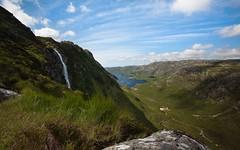 Eas a' Chual Aluinn (Ben Lockett) Tags: 1740 5d sutherland scotland cliff sealoch sea loch highest waterfall highlands unapool kylesku assynt easachualaluinn