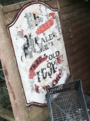 Traditional Ales (journo_bouy) Tags: weathered abandoned old ale traditional pub poster sign vintage