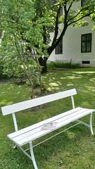 Bookcrossing release (zimort) Tags: bok book bookcrossing wildrelease gjvik gjvikgrd park benk bench parkbenk
