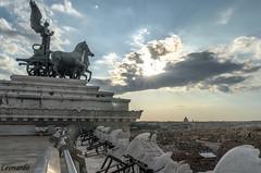 panorama dal vittoriano (leonardo_2k14) Tags: rome venice sanpietro nikon tamron sky city roma