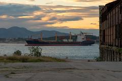 Nikolas Container Ship. View from abandoned fertilizer factory. (Magganaris Manolis) Tags: container view abandoned fertilizer factory ship containership sea shore seaview nikon nikkor 1685 drapetsona greece piraeus port