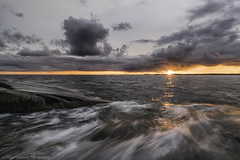 Sunset in Porkkala. (landscapehijacker) Tags: sun sunset sea porkkala finland longexposure landscape seascape sony zeiss summer evening cloud cloudy sky