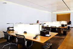 Work cubicles (A. Wee) Tags: cathaypacific  thebridge  lounge hongkong hkg    china workstation cubicle