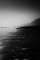 ||Contemplation|| (SouvikMetiaPhotography) Tags: people landscape blackandwhite morning monochrome flickr contrast seascape beach india asia streetphotography documentary standing sand nikon
