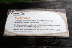 e castlerigg sign (Simon -n- Kathy) Tags: keswick england lakedistrict lakelands hike rain walk castlerigg