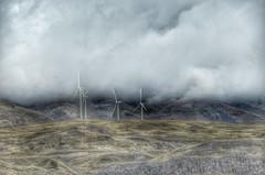 Giants in the Mist (sandyb49) Tags: 2016 columbiagorge day1 oregon oregonstatepark september clouds ipadedit vacation windturbine