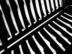 light and shadow (++sepp++) Tags: reischach trentinoaltoadige italien it abstract abstrakt gelnder railing bw blackwhite monochrom einfarbig sw schwarzweis kontrast contrast diagonal texture textur linien lines