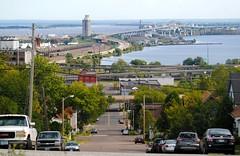 Superior Wisconsin from Duluth Minnesota (Cragin Spring) Tags: blatnikbridge bridge lakesuperior bay superiorwi superiorwisconsin superior street cars wisconsin wi midwest unitedstates usa unitedstatesofamerica duluth duluthmn duluthminnesota minnesota