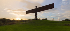 Angel of the North (scarlet-pimp) Tags: sculpture britain antonygormley gateshead england sunset angelofthenorth newcastle unitedkingdom gb raining