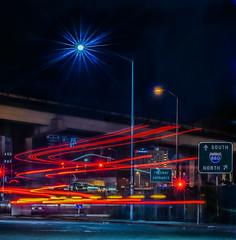 880 entrance (pbo31) Tags: california bayarea nikon d810 boury pbo31 october fall 2016 black dark recovery night color lightstream motion 880 freeway entrance downtown oakland overpass exchange truck roadway 980 city urban traffic eastbay alamedacounty acorn industrial