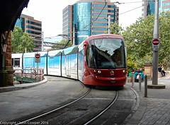 Sydney Light Rail - LRV 2123 arrives at Central (john cowper) Tags: sydneylightrail lrv2123 centralrailwaystation railwaycolonnade urbos3 dulwichhill transportfornsw sydneypublictransport sydney newsouthwales