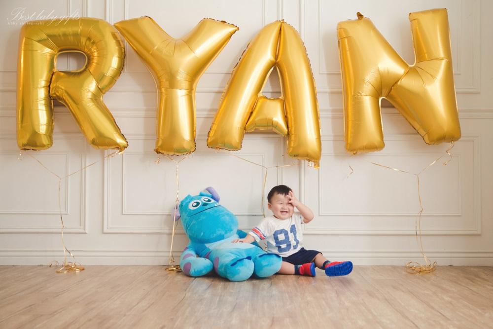慶生氣球週歲寶寶寫真