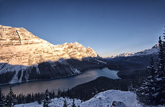 Peyto (gwendolyn.allsop) Tags: lake peyto blue snow water mountain d5200 morning landscape outdoors canada