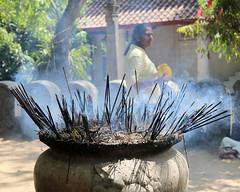 Incense (IMG_2254b) (Dennis Candy) Tags: srilanka ceylon serendip serendib kelaniya temple solosmasthana buddhism religion culture tradition heritage holy sacred incense offering worship