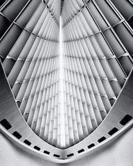 Milwaukee Art Museum (NikonD3xuser1(Thanks for 1.6 million visits)) Tags: usa wisconsin milwaukee milwaukeeartmuseum art museum blackandwhite ceiling space architecture nikon d810