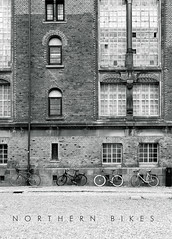 four in a row (s.f.p.) Tags: old library bibliotek copenhagen denmark europe north bike bycicle four black white architecture city travel