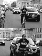 [La Mia Citt][Pedala] (Urca) Tags: milano italia 2016 bicicletta pedalare ciclista ritrattostradale portrait dittico nikondigitale mir bike bicycle biancoenero blackandwhite bn bw 89598