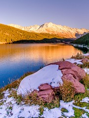 Fremont Pass (PlataYOro) Tags: ifttt 500px colorado rocky mountains clouds lake snow winter mountain sunset water sky trees blue tree travel forest sun sunrise cold rock boulder landscape beautiful serene